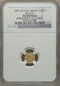 California Fractional Gold, 1856 50C Liberty Octagonal 50 Cents, BG-310, High R.6, --Improperly Cleaned -- NGC Details. AU. NGC Census: (0/2). PCGSPo...