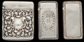 Silver & Vertu:Smalls & Jewelry, THREE GORHAM SILVER MATCH SAFES, Providence, Rhode Island, circa 1895-1898. Marks: (lion-anchor-G), STERLING, 1120; B1125;... (Total: 3 )