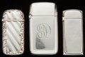 Silver Smalls:Match Safes, THREE GORHAM SILVER MATCH SAFES, Providence, Rhode Island, circa1899-1912. Marks: (lion-anchor-G), STERLING, PXY, (date...(Total: 3 )