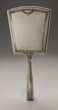 Silver Holloware, American:Mirrors and Vanity-related , An American Silver Hand Mirror And Brush. Saart Bros., Attleboro,MA, Early Twentieth Century. Hallmark to the front w... (Total: 2Items)