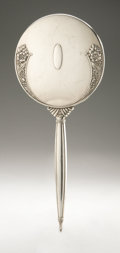 Silver Holloware, American:Mirrors and Vanity-related , An American Silver Hand Mirror. Napier Company, Meriden, CT,Twentieth Century. Hallmark to the side with STERLING...