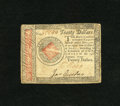 Colonial Notes:Continental Congress Issues, Continental Currency January 14, 1779 $20 Extremely Fine. Scrutinyreveals a little handling....