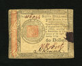 Colonial Notes:Continental Congress Issues, Continental Currency January 14, 1779 $60 Very Fine. This note has a maroon ink stain....