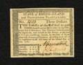 Colonial Notes:Rhode Island, Rhode Island July 2, 1780 $3 Choice New. A beautiful Rhode Islandnote that appears to be a superb gem note at first glance....