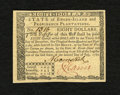 Colonial Notes:Rhode Island, Rhode Island July 2, 1780 $8 Gem New. An incredible gem that has four huge margins with perfect centering and cavernous embo...