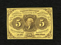 Fractional Currency:First Issue, Fr. 1230 5c First Issue Choice About New. A very light center fold is all that keeps this well margined and bright type note...