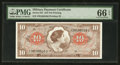 Military Payment Certificates:Series 641, Series 641 $10 PMG Gem Uncirculated 66 EPQ. . ...