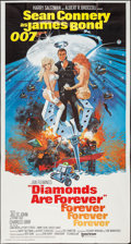 "Movie Posters:James Bond, Diamonds are Forever (United Artists, 1971). Three Sheet (41"" X77""). James Bond.. ..."