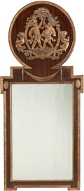 Decorative Arts, French:Other , A PAIR OF RÉGENCE-STYLE MAHOGANY AND GILT BRONZE MOUNTED MIRRORS,early 20th century. 65 x 29 x 1 inches (165.1 x 73.7 x 2.5...(Total: 2 Items)