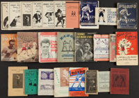 Vintage Boxing Books and Pamphlets Lot of 26