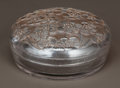 Art Glass:Lalique, R. LALIQUE CLEAR GLASS LE LYS BOX WITH SEPIA PATINA FORD'ORSAY. Circa 1922. Molded R. LALIQUE-FRANCE. M p. 96...