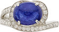 Estate Jewelry:Rings, SAPPHIRE, DIAMOND, WHITE GOLD RING, ELI FREI. ...
