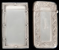 Silver Smalls:Match Safes, TWO GORHAM SILVER MATCH SAFES, Providence, Rhode Island, circa1907-1912. Marks: (lion-anchor-G), STERLING, B3176, (...(Total: 2 )