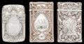 Silver Smalls:Match Safes, THREE GORHAM SILVER MATCH SAFES, Providence Rhode Island, circa1909. Marks: (lion-anchor-G), STERLING, B3173; B3174; B267...(Total: 3 )