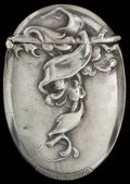 Silver Smalls:Match Safes, A GEORGE SHIEBLER SILVER MATCH SAFE, New York, New York, circa1890. Marks: (winged S), STERLING, 6504. 2-3/8 inches hig...