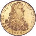 Mexico, Mexico: Ferdinand VII gold 8 Escudos 1808 Mo-TH MS62 NGC,...