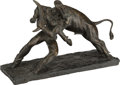 Bronze:American, AN AMERICAN BRONZE FIGURAL GROUP: BRONCO BUSTER, Clem Spamp,New York, New York, circa 1953. Marks: CLEM SPAMP...