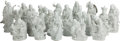 Asian:Chinese, EIGHTEEN CHINESE BLANC DE CHINE LOHAN FIGURES. 20 inches high (50.8cm). ... (Total: 18 Items)