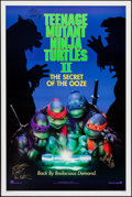 "Movie Posters:Action, Teenage Mutant Ninja Turtles II: The Secret of the Ooze (New Line,1991). Autographed One Sheet (27"" X 41"") DS. Action.. ..."