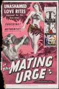 "Movie Posters:Sexploitation, The Mating Urge (Pat Patterson, 1959). Poster (40"" X 60"").Sexploitation.. ..."