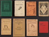 Late 1800's and Early 1900's Boxing Books Lot of 8