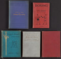 Boxing Collectibles:Memorabilia, 1888-1920 Boxing Hardcover Books Lot of 5....