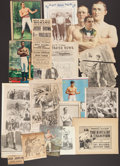 Boxing Collectibles:Memorabilia, Late 1800's Early 1900's Boxing Clipping Illustrations Lot of 16+...