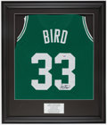 Basketball Collectibles:Photos, Larry Bird Signed Jersey....