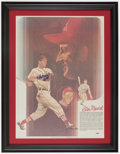 Baseball Collectibles:Others, Stan Musial Signed Print....