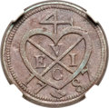 Netherlands East Indies, Netherlands East Indies: Sumatra. East India Company copper PatternKeping 1787//AH1202 XF40 Brown NGC,...