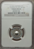 20th Century Tokens and Medals, (circa 1960) J.J. Conway & Co. Bashlow Restrike, Silver, MS66 NGC....
