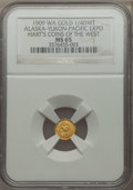Alaska Tokens, 1909 Alaska-Yukon-Pacific Exposition, 1/4 DWT, MS65 NGC. Gould-Bressett 166. Hart's Coins of the West....