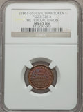 Civil War Patriotics, Undated The Federal Union MS65 Brown NGC, Fuld-223/328a....