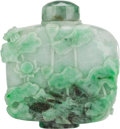 Asian:Chinese, A LARGE BURMESE JADE SNUFF BOTTLE. 4-3/8 inches high (11.1 cm). ...