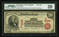 National Bank Notes:West Virginia, Huntington, WV - $20 1902 Red Seal Fr. 639 The First NB Ch. # (S)3106. ...