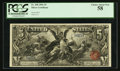 Large Size:Silver Certificates, Fr. 268 $5 1896 Silver Certificate PCGS Choice About New 58.. ...