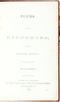 Books:Literature Pre-1900, [Slavery]. William Denton. Poems for Reformers. Cleveland:Printed for the author, 1859. Second edition. Twelvemo. O...