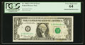 Error Notes:Major Errors, Fr. 1908-G $1 1974 Federal Reserve Note. PCGS Very Choice New 64.....