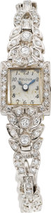 Estate Jewelry:Other , BULOVA DIAMOND, PLATINUM, GOLD WRISTWATCH. ...