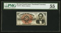 Fr. 1374 50¢ Fourth Issue Lincoln PMG About Uncirculated 55