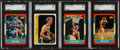 Basketball Cards:Lots, 1986 Fleer Basketball HoFers SGC Graded Group (4). ...