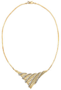 Diamond, Gold Necklace, D. Berretti