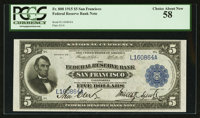 Fr. 808 $5 1915 Federal Reserve Bank Note PCGS Choice About New 58