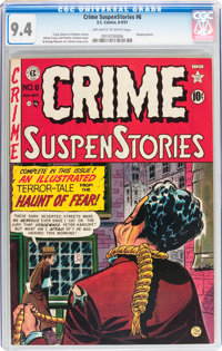 Crime SuspenStories #6 (EC, 1951) CGC NM 9.4 Off-white to white pages
