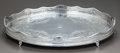 Silver Holloware, British:Holloware, AN ENGLISH SILVER FOOTED TRAY, Maker unidentified, Sheffield,England, circa 1829. Marks: (lion passant), (crown), JH, ...