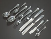 A ONE HUNDRED AND TWENTY-SEVEN PIECE AMERICAN SILVER ETRUSCAN PATTERN FLATWARE SERVICE