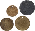 Political:Tokens & Medals, Abraham Lincoln: Four 1860 Medals....
