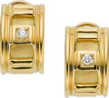 Estate Jewelry:Earrings, DIAMOND, GOLD EARRINGS, CAROL SILVERA. ...