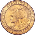 Commemorative Gold, 1915-S $50 Panama-Pacific 50 Dollar Round MS65 PCGS....