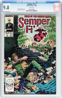Semper Fi #1 (Marvel, 1988) CGC NM/MT 9.8 White pages